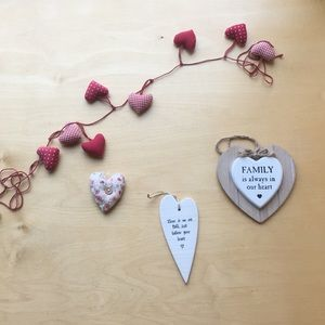 Other - Heart Door Hangers & Garland.